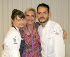 The Bazaar sous chef Holly Jivin & R & D chef Aitor  Zabala