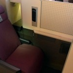 jal business class seat 150x150 Japan Airlines JAL SKY SUITE 777 Soars One Class Higher   Travel News