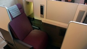 jal business class seat 300x168 Japan Airlines Business Class seats on the JAL SKY SUITE 777