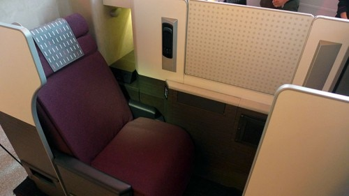 Japan Airlines' Business Class seats on the JAL SKY SUITE 777