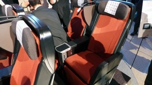 Japan Airlines' Premium Economy seats on the JAL SKY SUITE 777