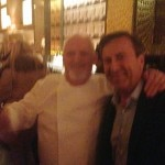 Michel Richard and Daniel Boulud at the grand opening