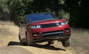 The Range Rover Sport V8 Supercharged in action