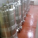 After crushing, grapes are sent to stainless steel tanks for fermentation