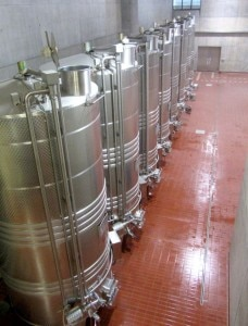 Tanks at Masottina winery (part of the Ipogea Project)