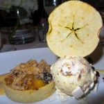 Caramelized walnut ice cream