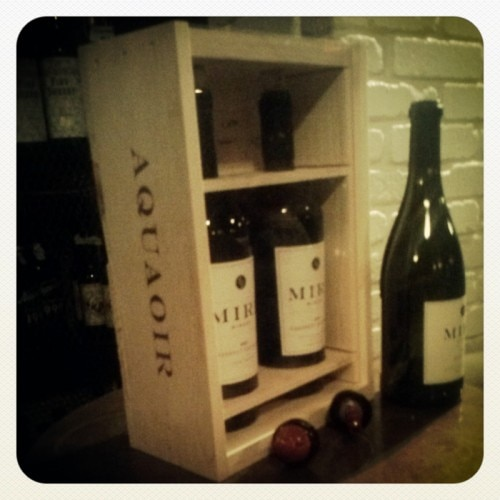An 'Aquaoir' box of Mira Winery 2009 Cabernet Sauvignon