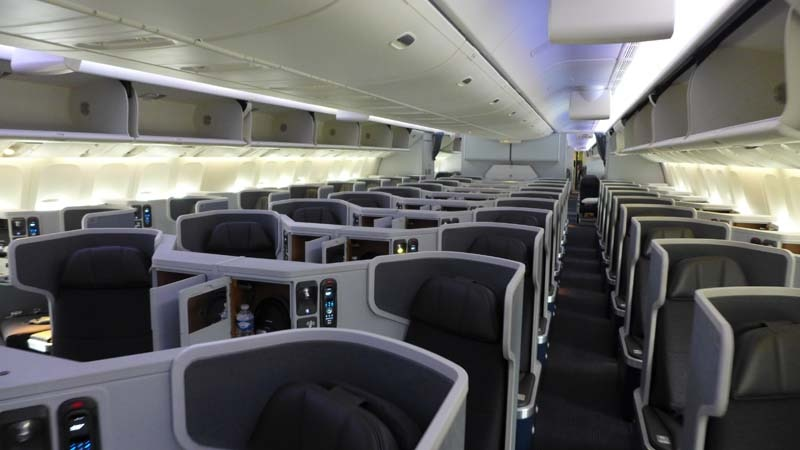 American Airlines\' Business Class cabin on the new Boeing 777-300ER ...