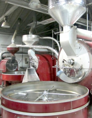 Coffee-roasting equipment at Mr. Espresso's Oakland warehouse. Photo courtesy of Kristan Lawson.