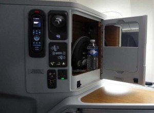 The control panel in seats on American Airlines' new Boeing 777-300ER