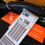 Priority luggage tag for American Airlines Business Class passengers