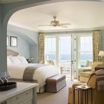 A guest room at Ocean House in Watch Hill
