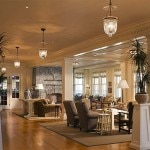 The lobby at Ocean House in Watch Hill