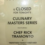 Chef Rick Tramonto flew in from Chicago for the Culinary Masters Series at The Strand House
