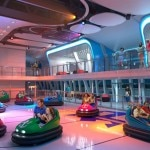 Bumper cars aboard the ship
