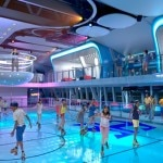 Roller rink aboard the ship