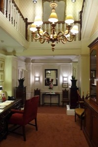 The lobby of the Draycott Hotel in London
