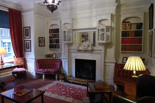 A fireplace at the Draycott Hotel in London