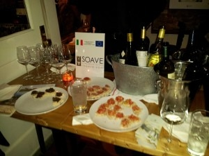 A sampling of Soave at Risotteria Melotti