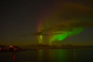 red yellow green northern light2 300x200 Red, yellow and green Northern Lights