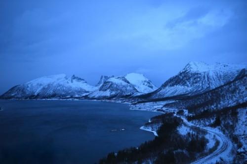 Senja fjord in Norway