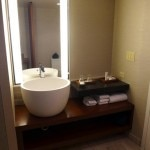 bathroom sink 150x150 Nobu Hotel Caesars Palace, Las Vegas   Hotel Review