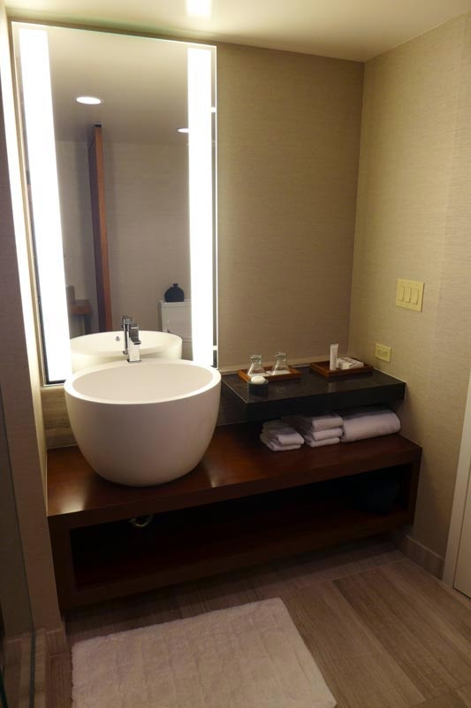 a bathroom vanity at nobu hotel caesars palace in las vegas