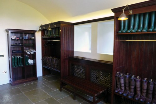 The boot room at Ellenborough Park