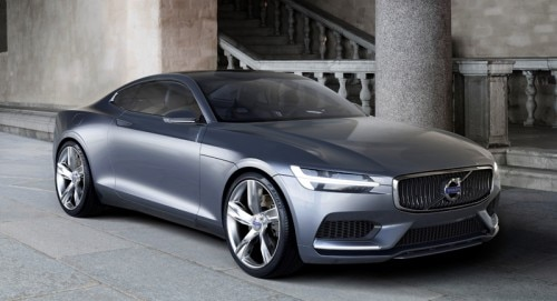 "The Volvo Concept Coupé combines the ""T6"" Drive-E engine with an electric motor to deliver V8-like power"