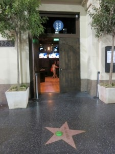 The entrance on Hollywood boulevard