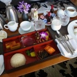 In-room breakfast from Nobu Restaurant at Nobu Hotel Caesars Palace in Las Vegas