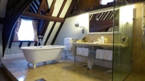 istabraq suite bathroom 300x168 The bathroom in the Istabraq Suite at Ellenborough Park