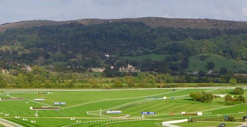 A view of Ellenborough Park from Cheltenham Racecourse