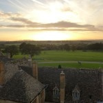 A view of Cheltenham Racecourse from Ellenborough Park