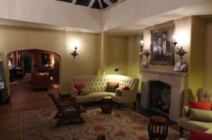 The reception area at Ellenborough Park