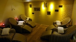 spa relaxation room 300x168 The relaxation room at The Spa at Ellenborough Park