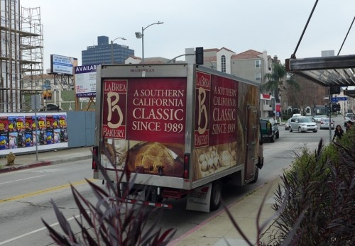 A La Brea Bakery delivery truck
