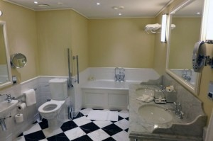 woodland court bathroom 300x199 A guest bathroom in Woodland Court in Ellenborough Park
