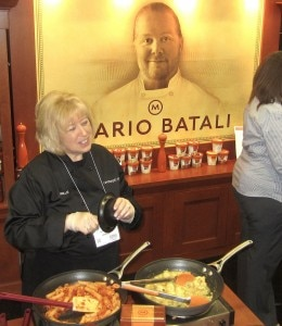 Mario Batali's booth at the Fancy Food Show (Credit: Kristan Lawson)