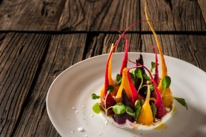Assorted baby beets with yogurt, balsamic vinegar and herbs . (Credit: Francesco Tonelli)