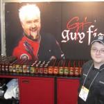 Guy Fieri's booth