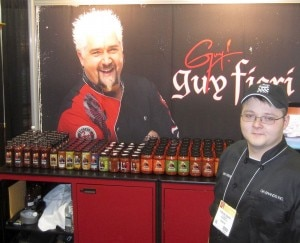 Guy Fieri's booth at the Fancy Food Show (Credit: Kristan Lawson)