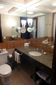 Well-appointed bathroom at Hotel Giraffe in New York City