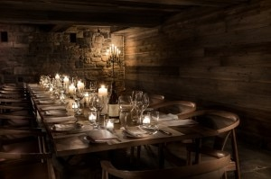 Candle lit private dining at The Inn at Pound Ridge by Jean-Georges Vongerichten. (Credit: Francesco Tonelli)