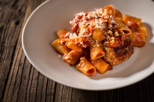 Rigatoni with Meatballs