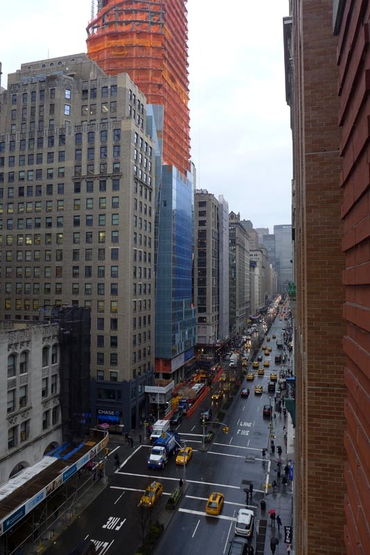 The view from the juliet balcony at hotel giraffe in new for New york balcony
