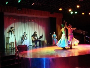 Cuban guest entertainers aboard the Cuba Cruise
