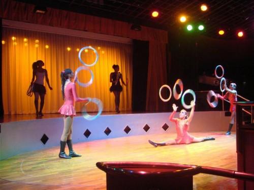Cuban National Circus performers aboard the Cuba Cruise