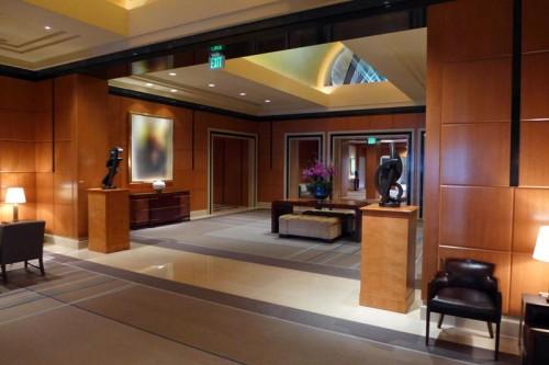 The lobby of the Four Seasons Hotel San Francisco