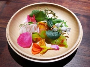 Bright bitter vegetables at Saison, one of GAYOT's Top 40 Restaurants in the U.S.
